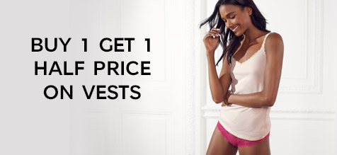 Buy 1 get 1 half price on vests